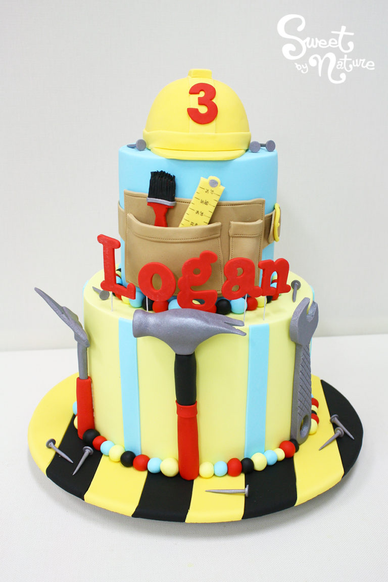 Two Tier Builder Tools Birthday Cake