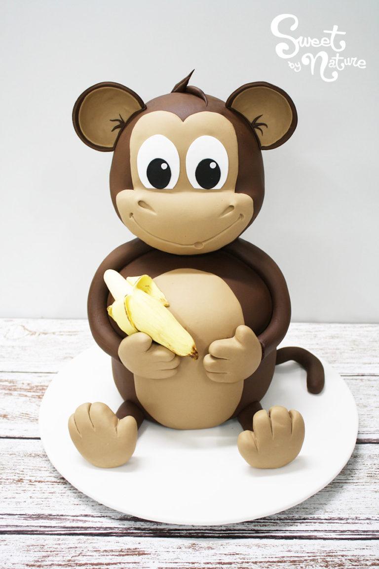 3D Monkey and Banana Cake