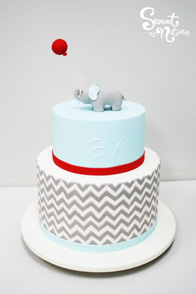 Geometric Two Two Tier Elephant Cake