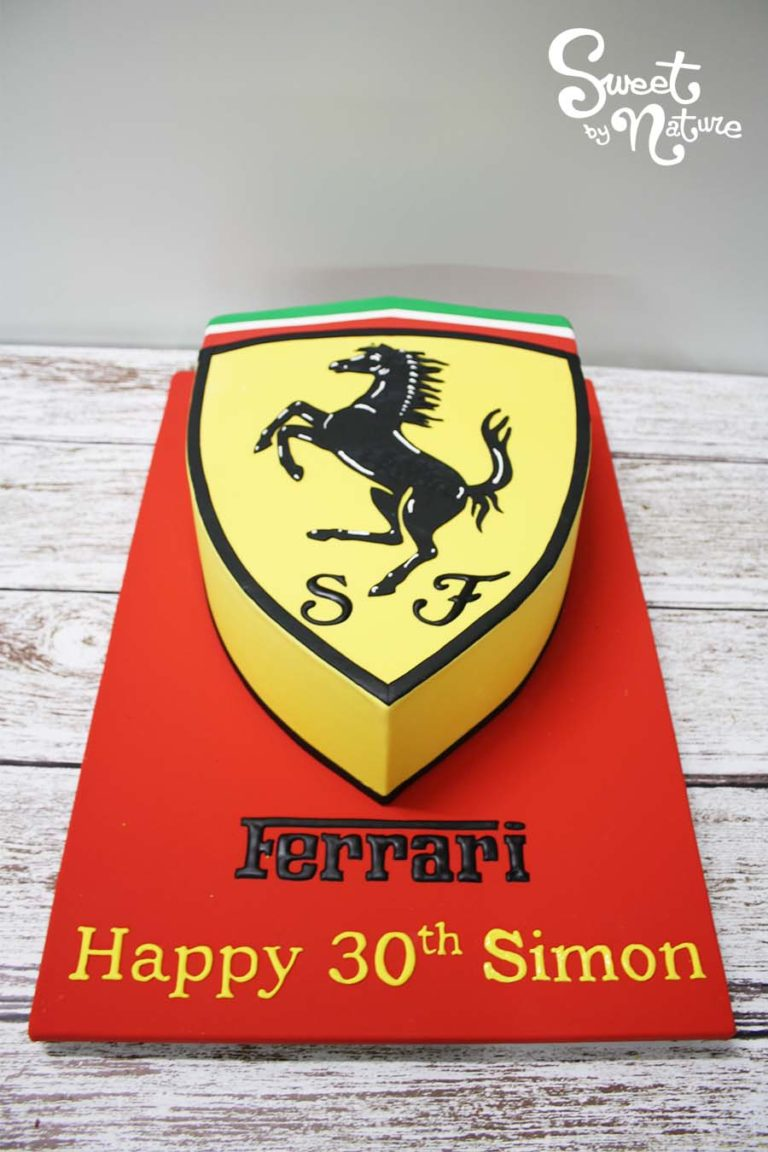 Ferrari emblem 30th birthday cake