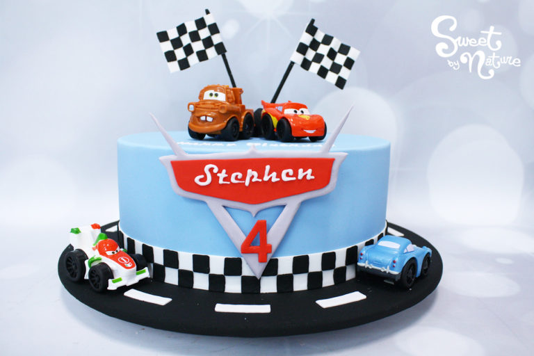 Cars Race Track Cake