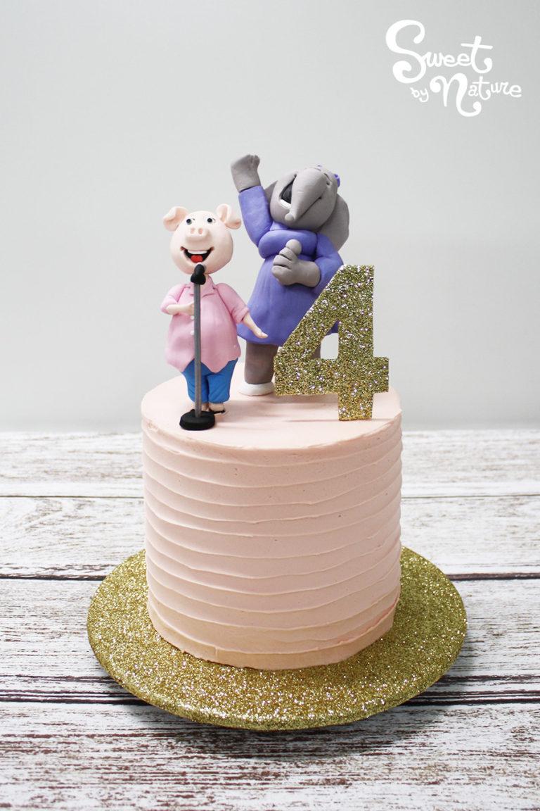 Sing Glitter Birthday Cake