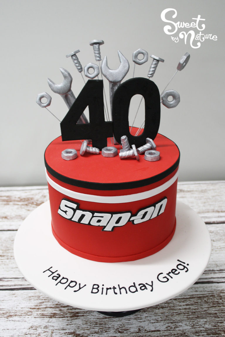40th birthday Snap On Tools cake