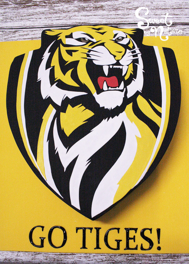 Novelty Richmond Tigers AFL football cake