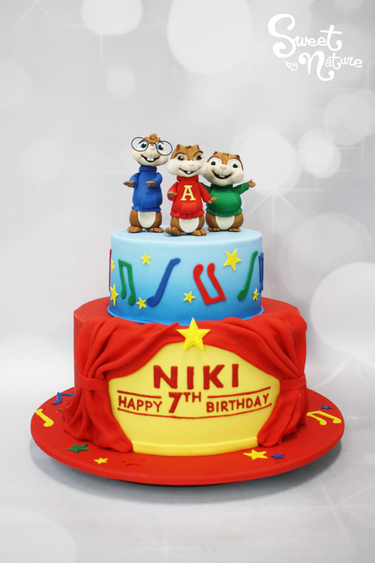 Alvin and the Chipmunks Two Tier Birthday Cake
