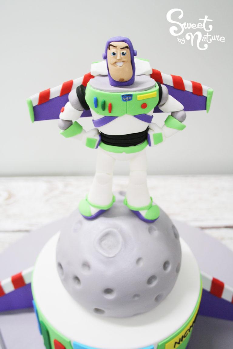 Buzz Lightyear Figurine on the Moon