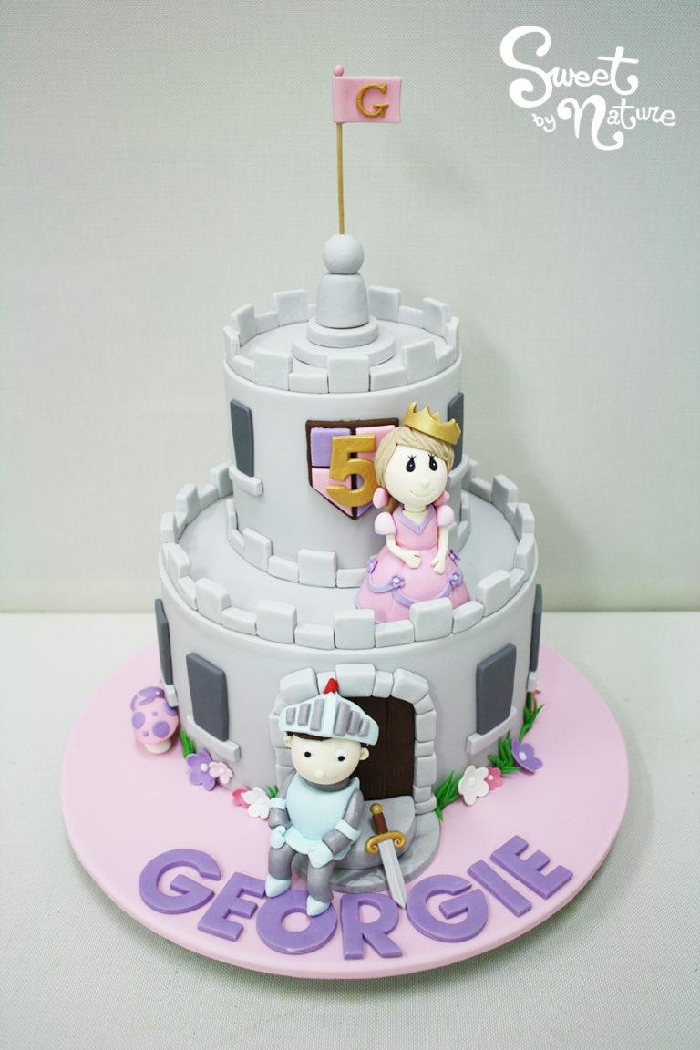 Prince and Princess Castle Birthday Cake