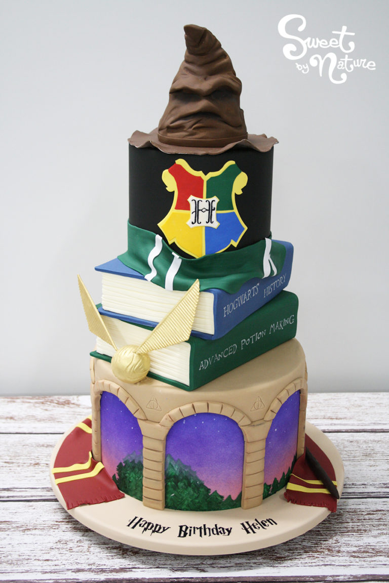Three Tier Harry Potter Birthday Cake