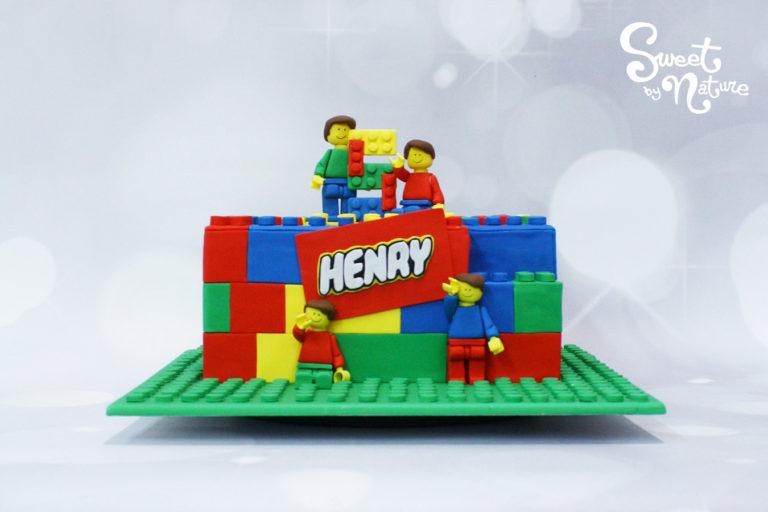 Lego Block Birthday Cake