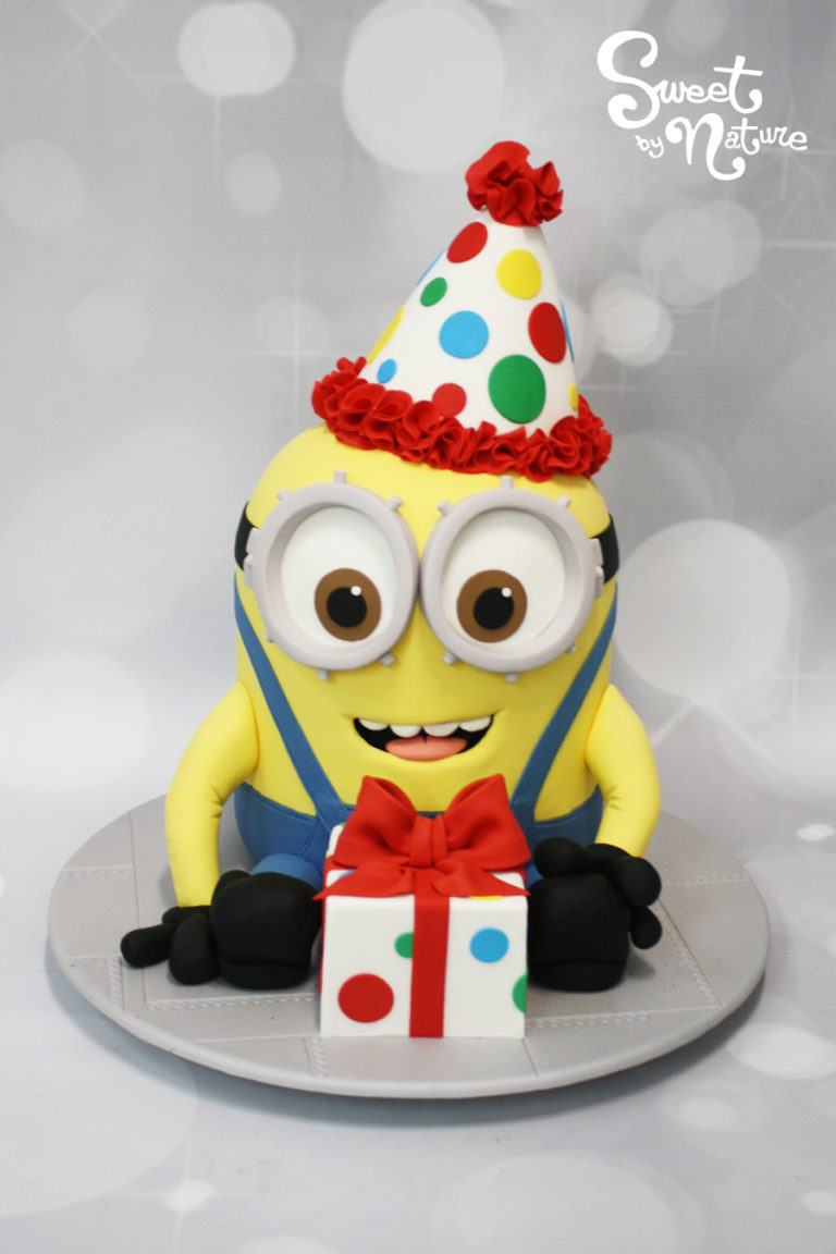 Minion in a Party Hat Birthday Cake