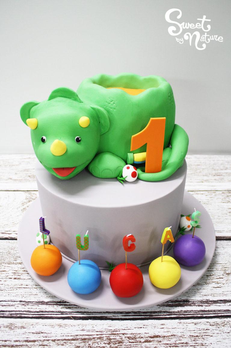 Rainbow Dinosaur Birthday Cakes