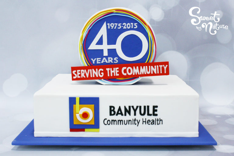 Banyule City Council Anniversary Corporate Cake