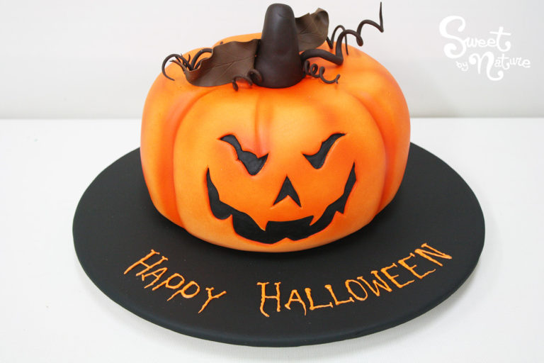 Novelty Halloween Carved Pumpkin Cake