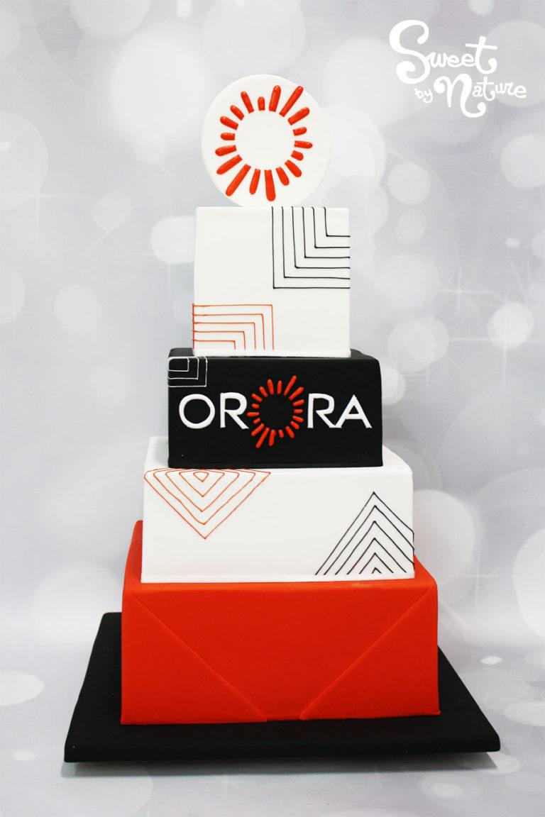 Orora Five Tier Logo Cake