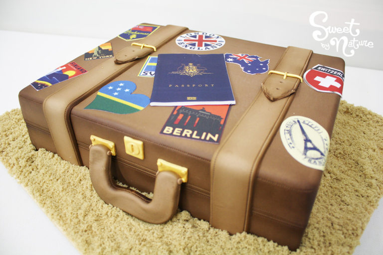 Novelty Suitcase Cake with Edible Images