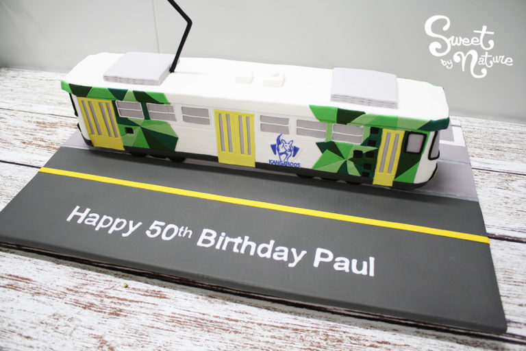 Novelty Melbourne public transport tram cake